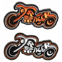 Triker Patch In Orange And White 2 Biker Patches