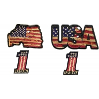 Vintage USA American Flag Patches Set Of 4 | Embroidered Patches