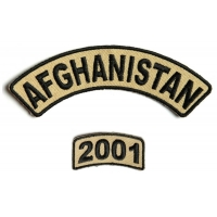 Afghanistan 2001 Rocker Patch 2 Pieces | US Afghan War Military Veteran Patches