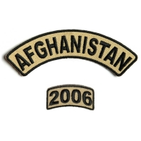 Afghanistan 2006 Rocker Patch 2 Pieces | US Afghan War Military Veteran Patches