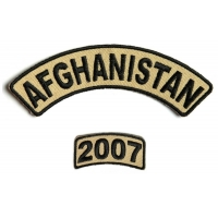 Afghanistan 2007 Rocker Patch 2 Pieces | US Afghan War Military Veteran Patches