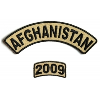 Afghanistan 2009 Rocker Patch 2 Pieces | US Afghan War Military Veteran Patches