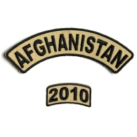 Afghanistan 2010 Rocker Patch 2 Pieces | US Afghan War Military Veteran Patches