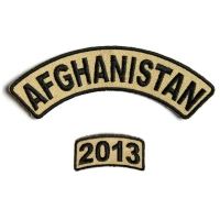 Afghanistan 2013 Rocker Patch 2 Pieces | US Afghan War Military Veteran Patches