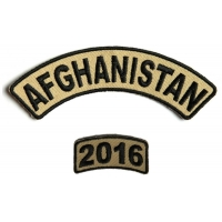 Afghanistan 2016 Service Year Patch Set