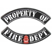 Property Of Fire Department 2 Piece Back Patch Set
