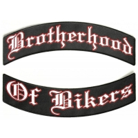 Brotherhood Of Bikers 2 Piece Back Patch Set