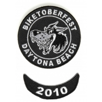 Biketoberfest 2010 Daytona 2 Piece Patch Set