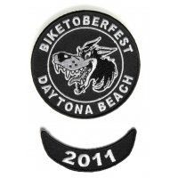 Biketoberfest 2011 Daytona 2 Piece Patch Set
