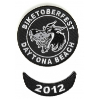 Biketoberfest 2012 Daytona 2 Piece Patch Set