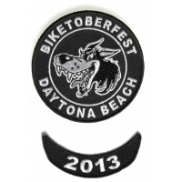 Biketoberfest 2013 Daytona 2 Piece Patch Set