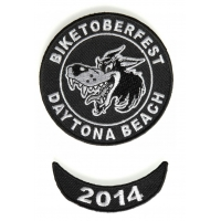 Biketoberfest 2014 Daytona 2 Piece Patch Set