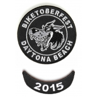 Biketoberfest 2015 Daytona 2 Piece Patch Set