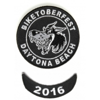 Biketoberfest 2016 Crazy Wolf Patch