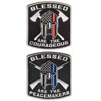 Blessed Fire Fighters And Police Officers SPARTAN Patch