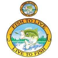 Fishermen's 2 Piece Patch Set Fish To Live, Live To Fish