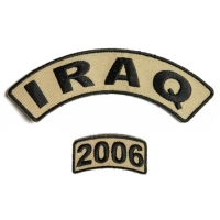 Iraq 2006 Rocker Patch Set 2 Pieces | US Iraq War Military Veteran Patches