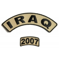 Iraq 2007 Rocker Patch Set 2 Pieces | US Iraq War Military Veteran Patches