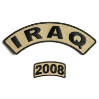 Iraq 2008 Rocker Patch Set 2 Pieces | US Iraq War Military Veteran Patches