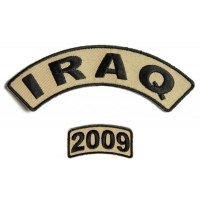 Iraq 2009 Rocker Patch Set 2 Pieces | US Iraq War Military Veteran Patches