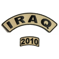 Iraq 2010 Rocker Patch Set 2 Pieces | US Iraq War Military Veteran Patches