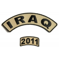 Iraq 2011 Rocker Patch Set 2 Pieces | US Iraq War Military Veteran Patches