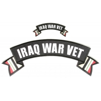 Iraq War Vet Patches Small And Large 2 Piece Rocker Patch Set