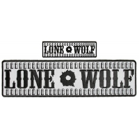 Lone Wolf Patches With Bullets Large Reflective And Small Black White