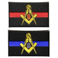 Mason Police Officer And Fire Fighter Support Patches