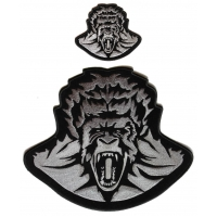 Scary Gorilla Ape 2 Piece Patch Set