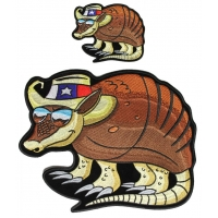 Texas Armadillo Patches Small And Large Patch Set