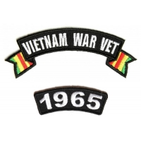 Vietnam War Vet 1965 Patch Set
