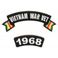 Vietnam War Vet 1968 Patch Set