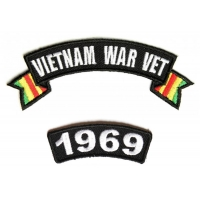 Vietnam War Vet 1969 Patch Set