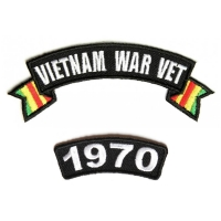 Vietnam War Vet 1970 Patch Set