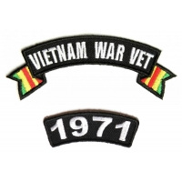 Vietnam War Vet 1971 Patch Set