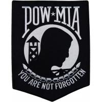 Large POW MIA Back Patch | US POW MIA Military Veteran Patches