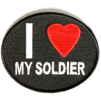 I Love My Soldier Patch | US Military Veteran Patches