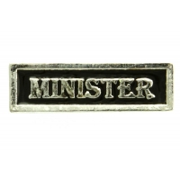 Minister Pin Silver Plated