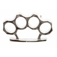 Brass Knuckles Pin Silver