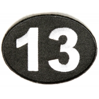 Lucky 13 Patch  | Embroidered Patches