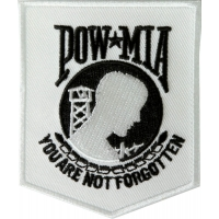 White POW MIA Patch | US Military Veteran Patches