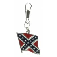 Rebel Flag Zipper Pull