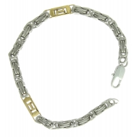 Stainless Steel Chain Gold Link Bracelet