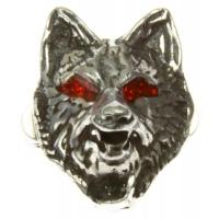 Wolf Head Pin