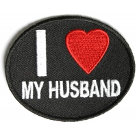 I Love My Husband Patch | Embroidered Patches