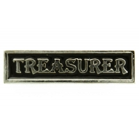 Treasurer Pin Silver Plated