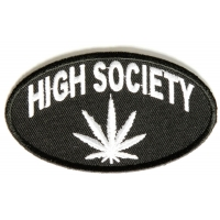 High Society Patch | Embroidered Pot Patches