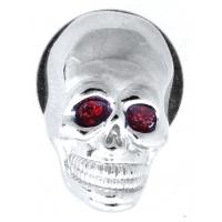Red Eye Skull License Plate Bolt