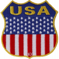 USA  Shield Flag Patch | Embroidered Patches